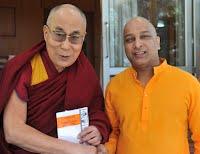 Prashant Mali & Dalai Lama at Mclodganj